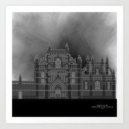 HexArchi - Portugal, Batalha, Mosteiro de Santa Maria da Vitória . Igreja e Capela do Fundador Art Print