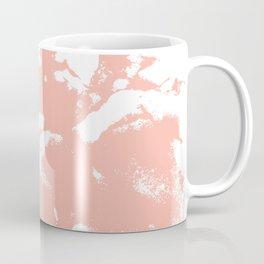 Marble pink 3 Suminagashi watercolor pattern art pisces water wave ocean minimal design Coffee Mug