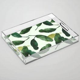 banana leaves Acrylic Tray