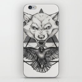 Wolf and Crow - Emblem iPhone Skin