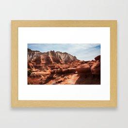 Unusual Rock Formations at Kodachrome Park, Utah Framed Art Print