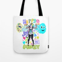 2ne1 Tote Bags featuring 2NE1 Happy: Minzy by Haneul Home