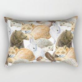 woodland animals pattern Rectangular Pillow