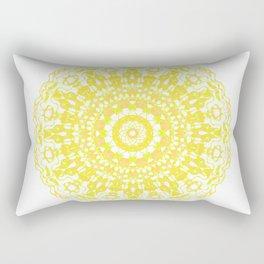 Mandala 12 / 2 eden spirit yellow Rectangular Pillow
