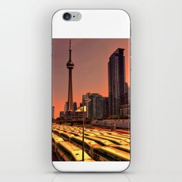 Go Trains Waiting for Rush Hour iPhone Skin