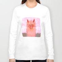 alpaca Long Sleeve T-shirts featuring Alpaca!!! by J Han