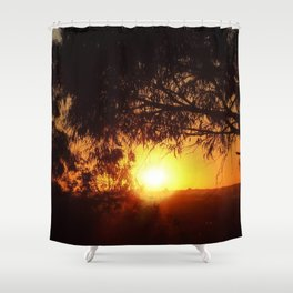 Sunset Silhouettes | Beautiful Nature Shower Curtain