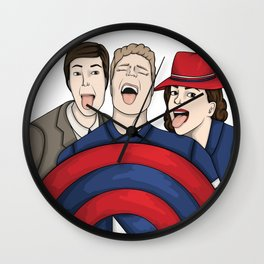Team Carter Wall Clock