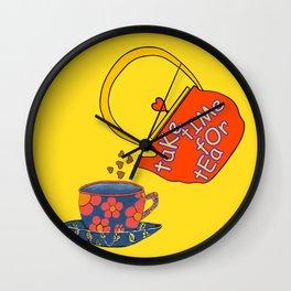 Take Time For Tea Wall Clock