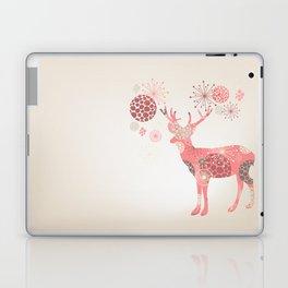 Flower deer Laptop & iPad Skin