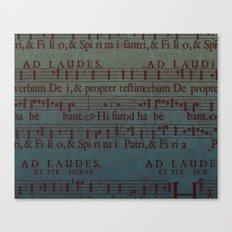 Music Sheet Canvas Print