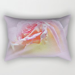 Delicate Soft Pink Rose Rectangular Pillow