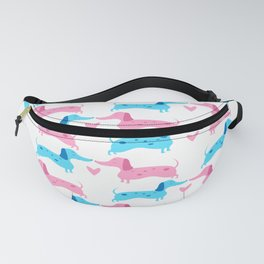 Dapple Dachshunds Love: Pinky and Blue Fanny Pack