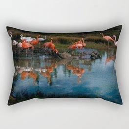 Flamingo Convention Rectangular Pillow
