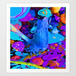 Mermaids purse purple/violet/blue Art Print