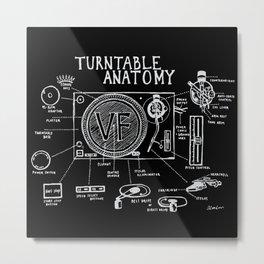 Turntable Anatomy Metal Print