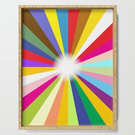 Bright Ray Background Serving Tray