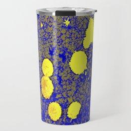 Gold and Blue Harmony Travel Mug