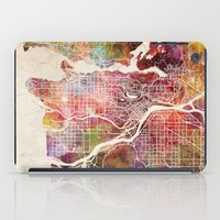 vancouver iPad Cases featuring Vancouver by MapMapMaps.Watercolors