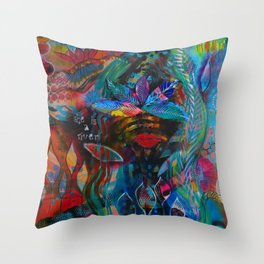 She is a River Throw Pillow
