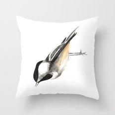 Sweet Chickadee Throw Pillow