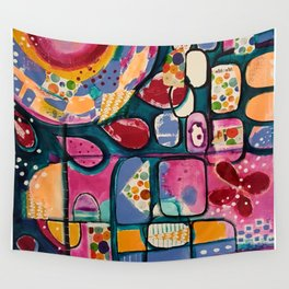 Rainbow garden Wall Tapestry