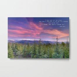 """""""I only went out for a walk ........"""" Love the mountains..... Metal Print"""