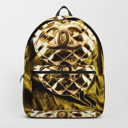 gold vintage earrings coco Backpack