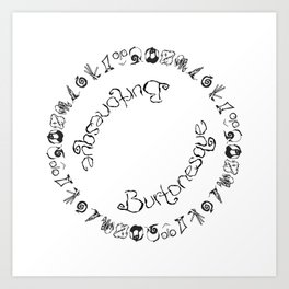 Burtonesque Circle Art Print