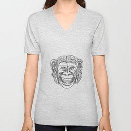 Humanzee Smiling Doodle Unisex V-Neck