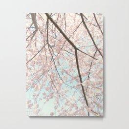 Vintage pink tree Metal Print