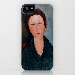"""Amedeo Modigliani """"Buste de jeune fille (Mademoiselle Marthe)"""" iPhone Case"""