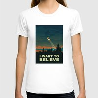 i want to believe T-shirts featuring I want to believe by mangulica illustrations