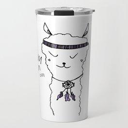 Yoga Llama om Travel Mug