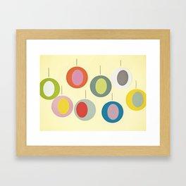 Christmas Baubles Framed Art Print