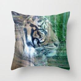 Hidden Tiger Throw Pillow