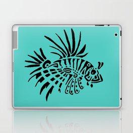 Poisson lion - turquoise Laptop & iPad Skin