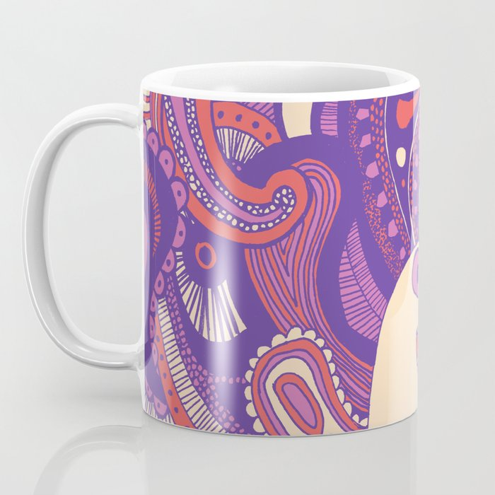 Purple Paisley Peacock Coffee Mug