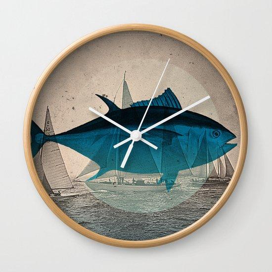 Northern Bluefin Wall Clock