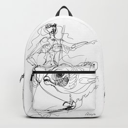Woman and fish graphic Backpack