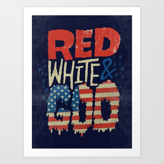 Red, White, & Goo Art Print