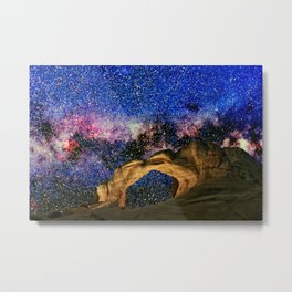 Broken Arch Night Sky Design Metal Print