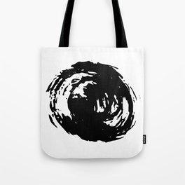 Whorl Black on White Tote Bag