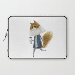 A cat holding a tumbler Laptop Sleeve