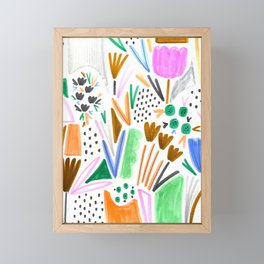 Felt Tip Floral Framed Mini Art Print