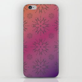 Snowflake Skulls: Grey+Gradient iPhone Skin