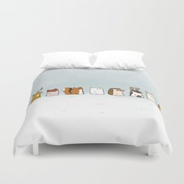 Winter forest animals Duvet Cover