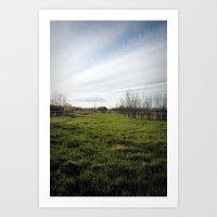 Sky and earth Art Print