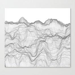 Soft Peaks Canvas Print