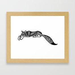 Sleeping Grey Wolf Framed Art Print